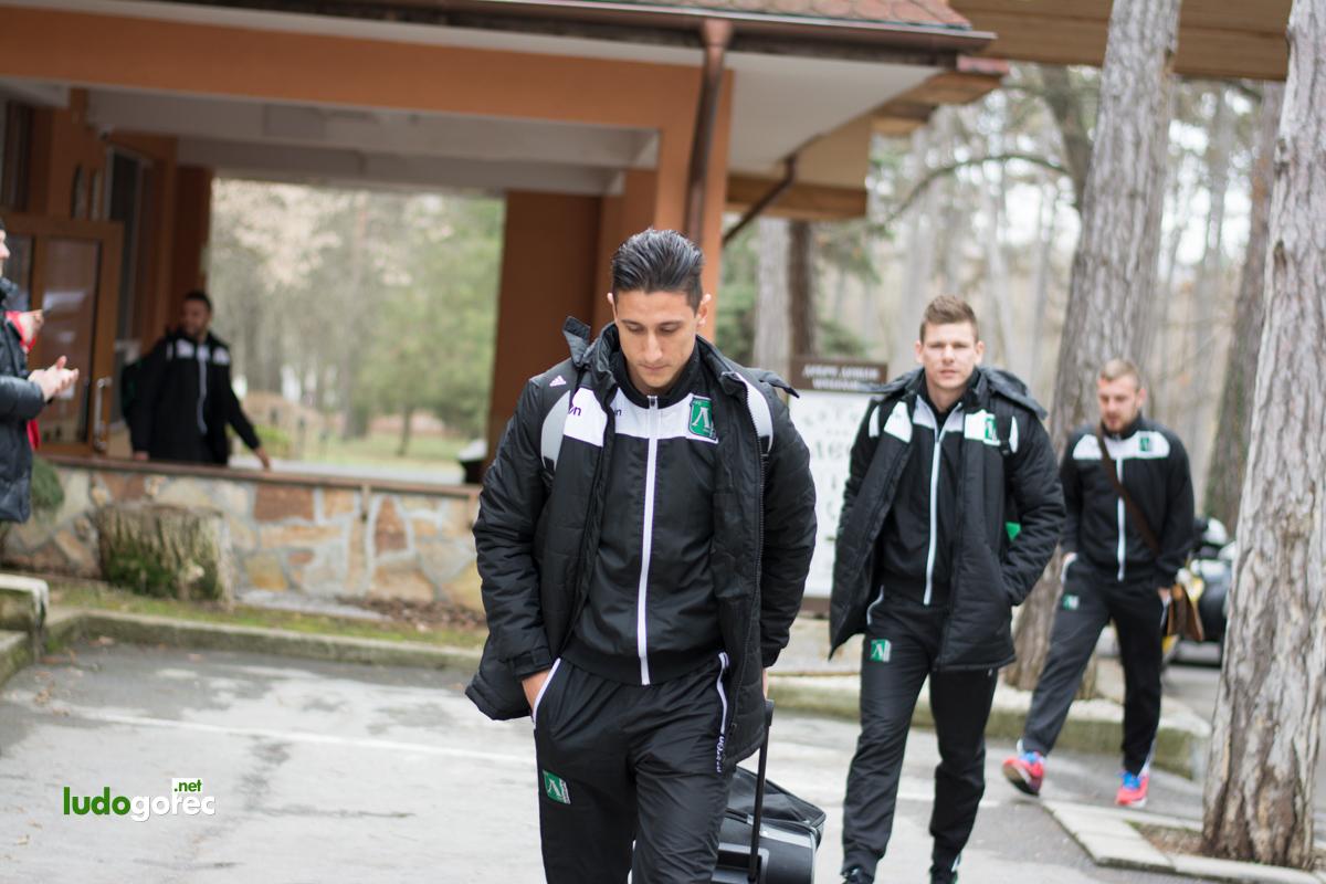 Подкрепа за любимия отбор преди мача с Левски