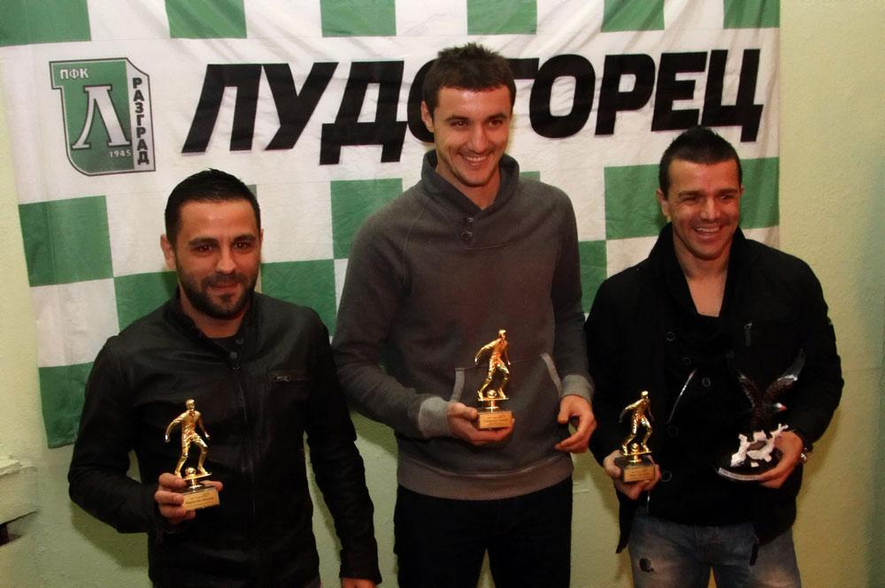Трима асове на Лудогорец с награди от феновете